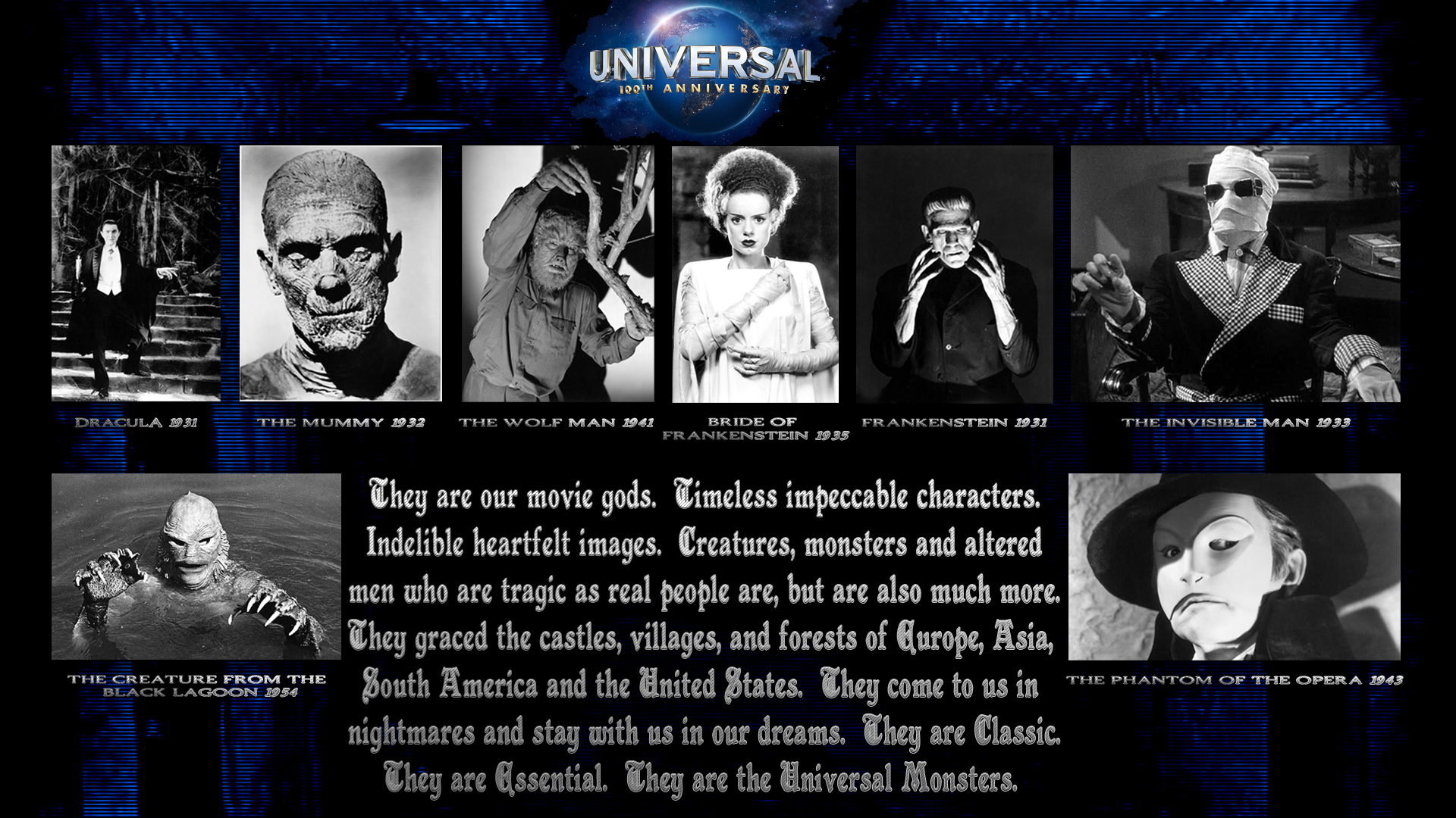 Universal Monster Wallpaper 100 years of universal the 1920x1080