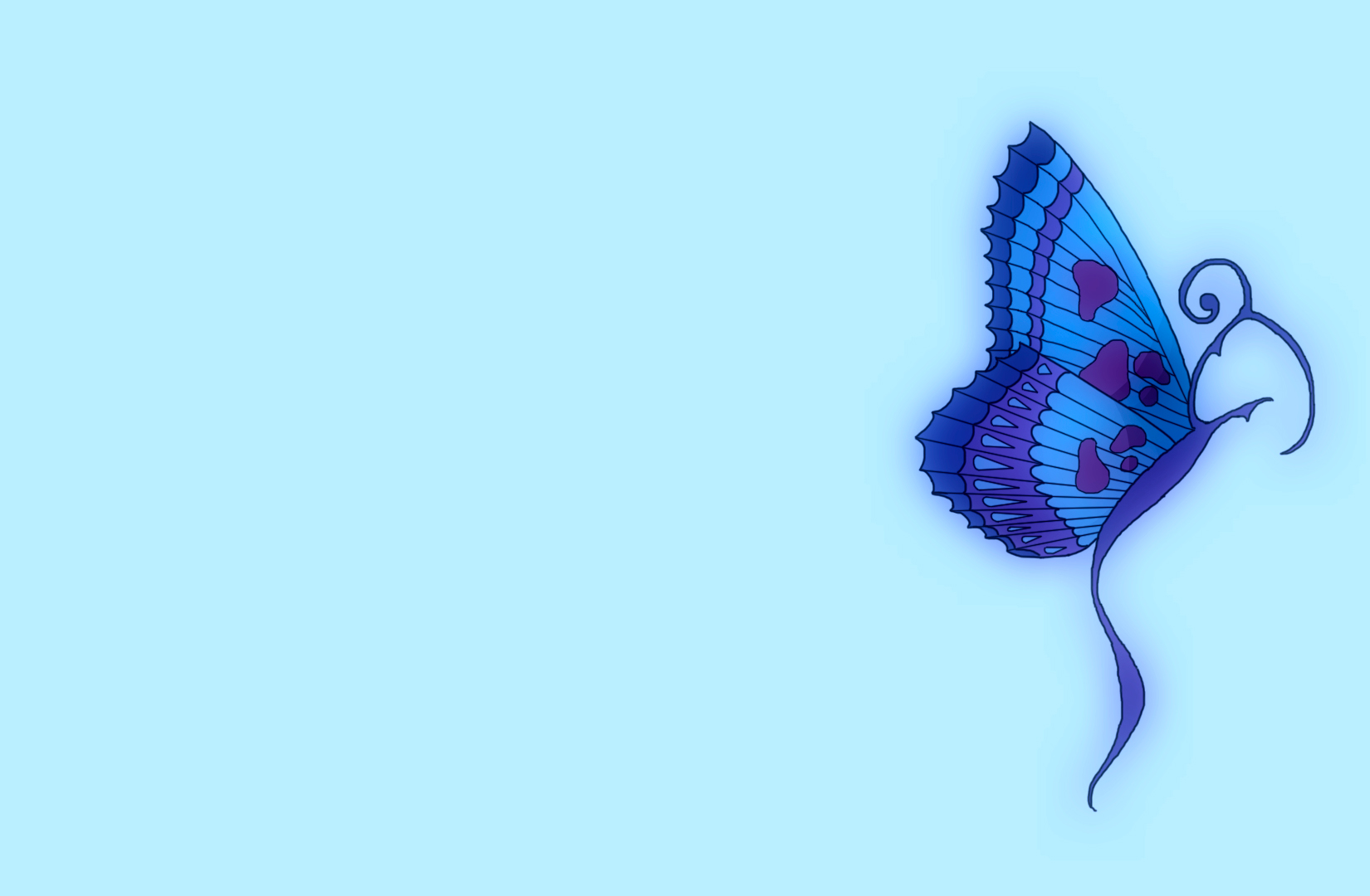 Blue Butterfly Wallpaper 10791 Hd Wallpapers in Cute   Imagescicom 1650x1080