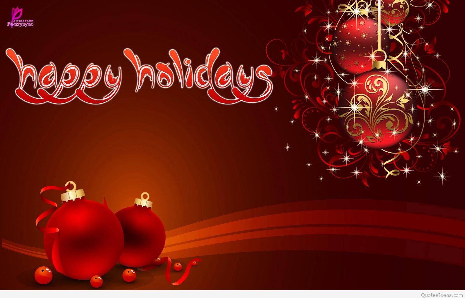 Card Wallpaper Happy Holidays HD 1600x1027