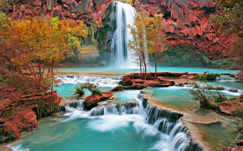Desktop Waterfall Wallpaper Download Nature Beauty 1440x900