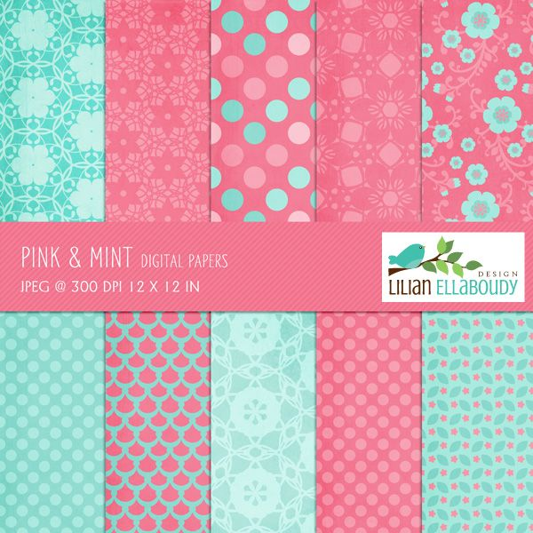 mint and pink wallpaper - photo #30