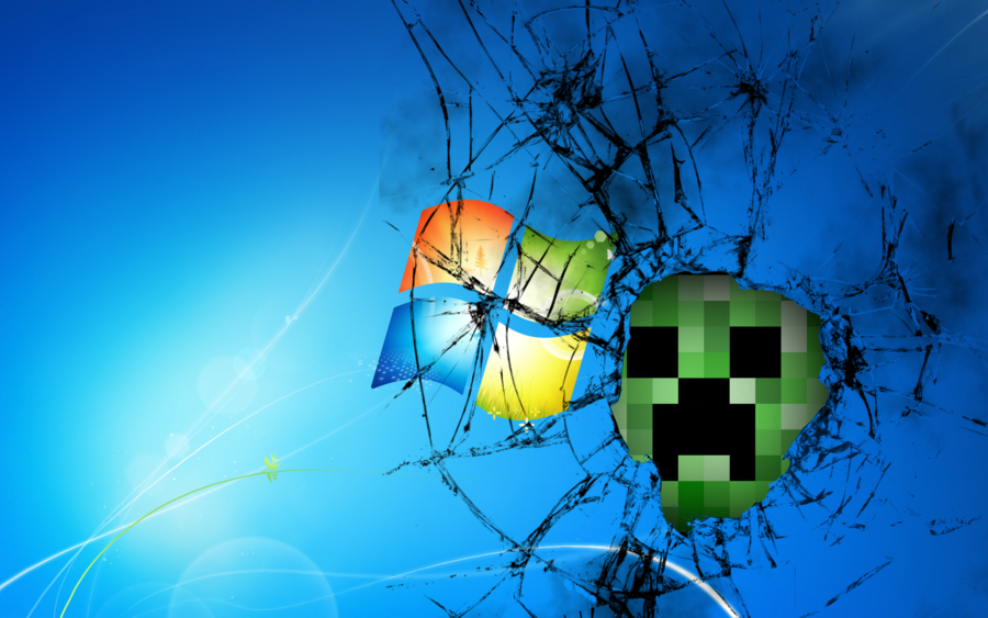 Windows 7 Creeper Wallpaper by ZeroGravix on deviantART 900x563