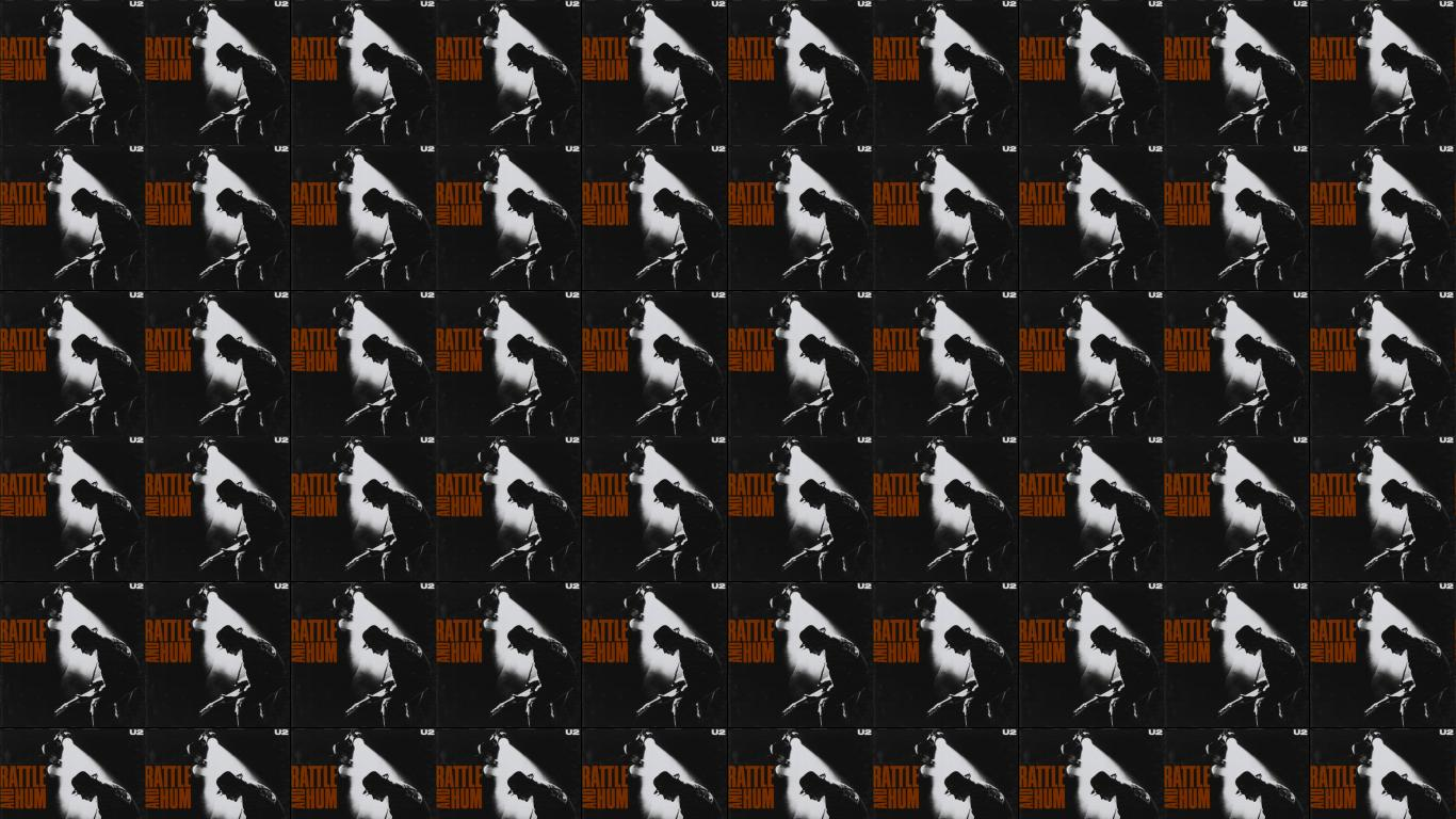 U2 Rattle Hum Wallpaper Tiled Desktop Wallpaper 1366x768