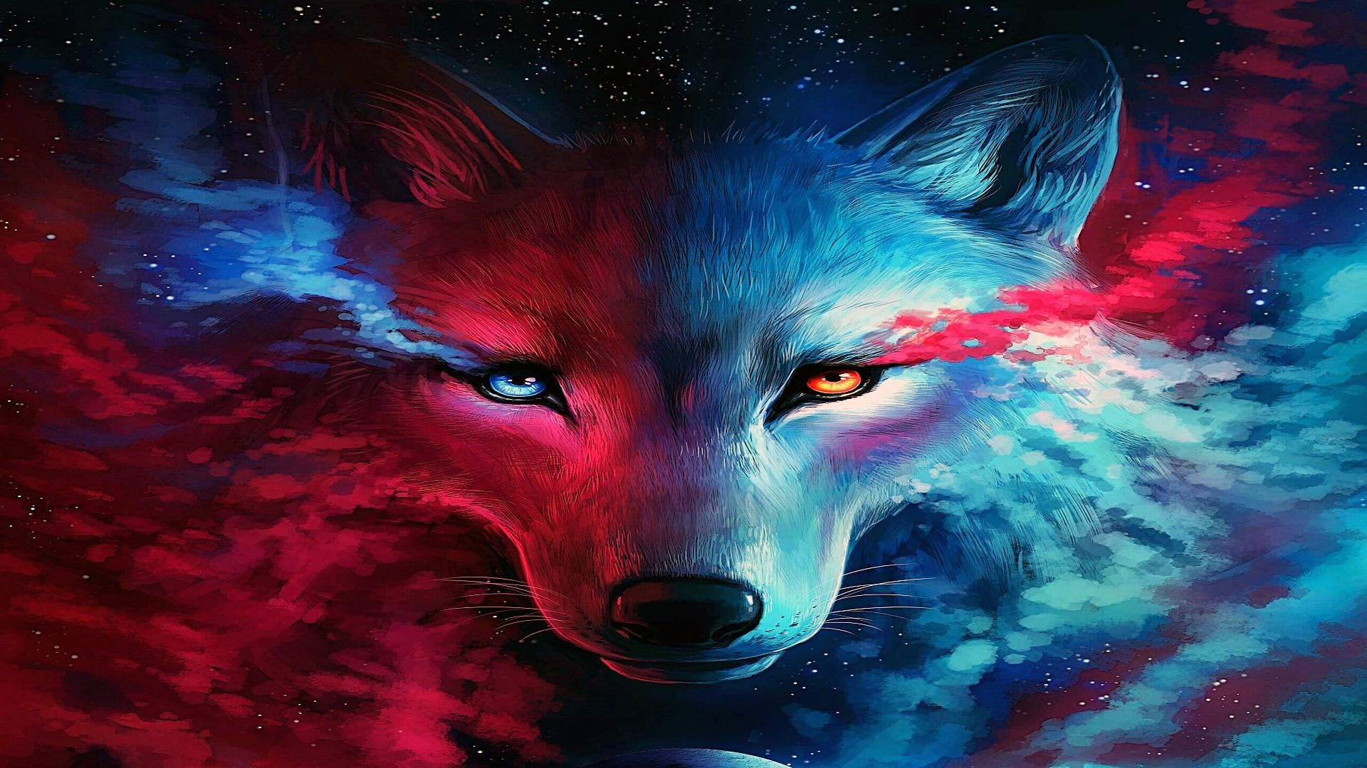 80 Galaxy Wolf Wallpapers on WallpaperPlay 1920x1080