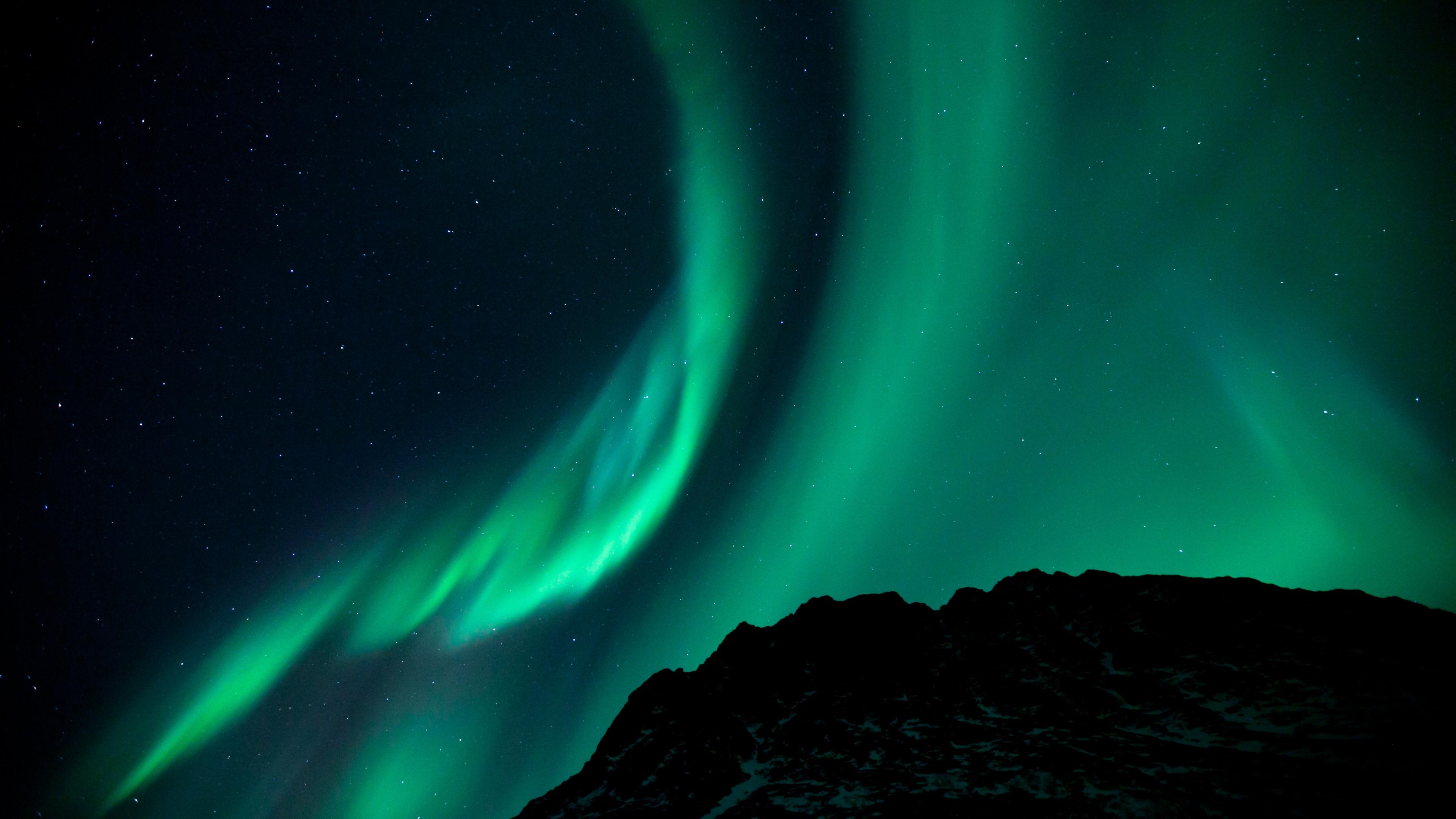 lights Night Night sky phenomenon Wallpaper Background 4K Ultra HD 3840x2160