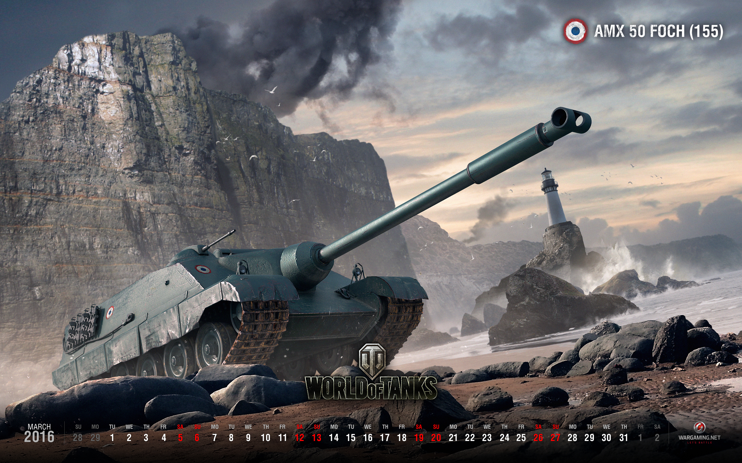 March 2016 Wallpaper Calendar Tanks World of Tanks media 2560x1600