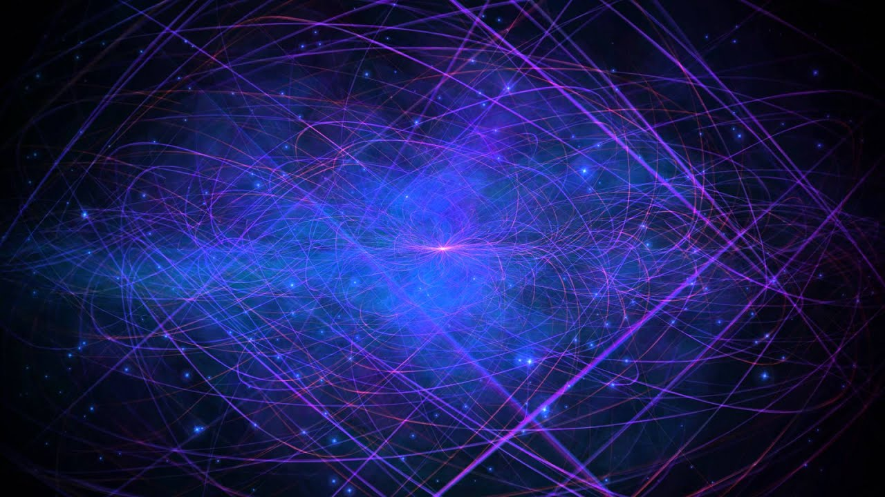 4K Purple Blue Void Slow Space Travel 2160p Motion Background 1280x720