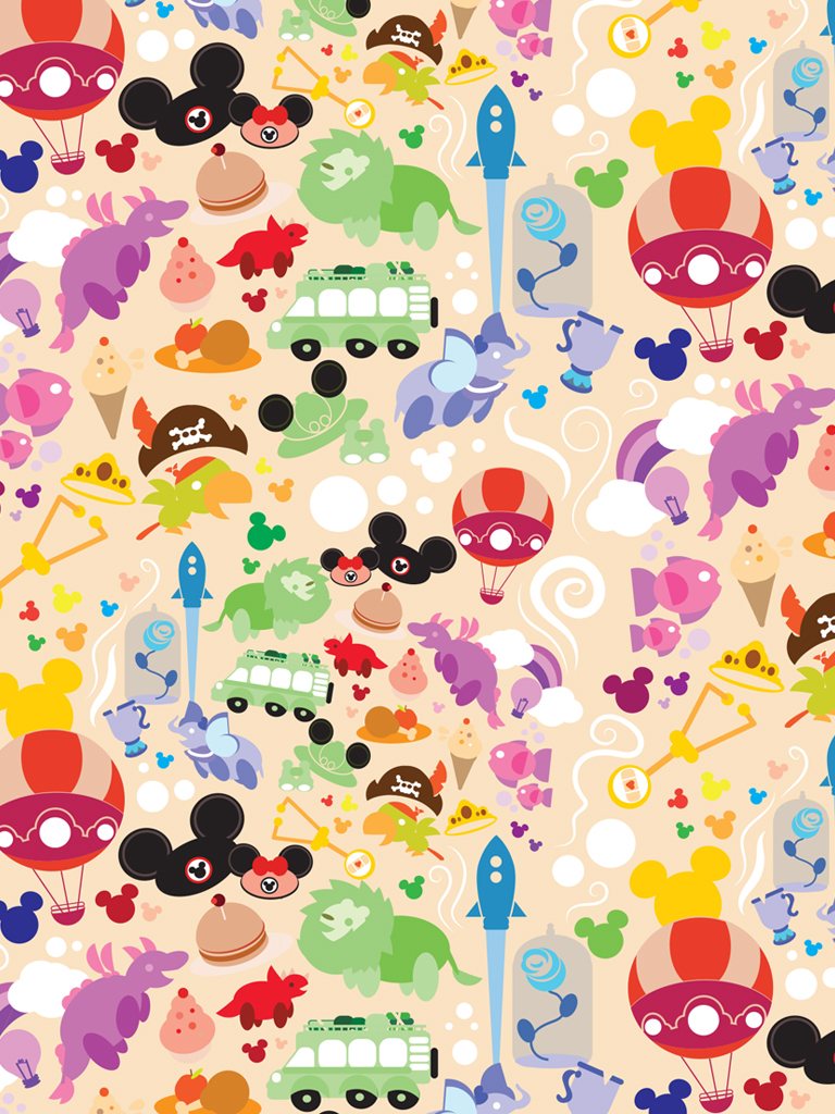 DisneyKids Download Our Playful Walt Disney World Resort Wallpaper 768x1024