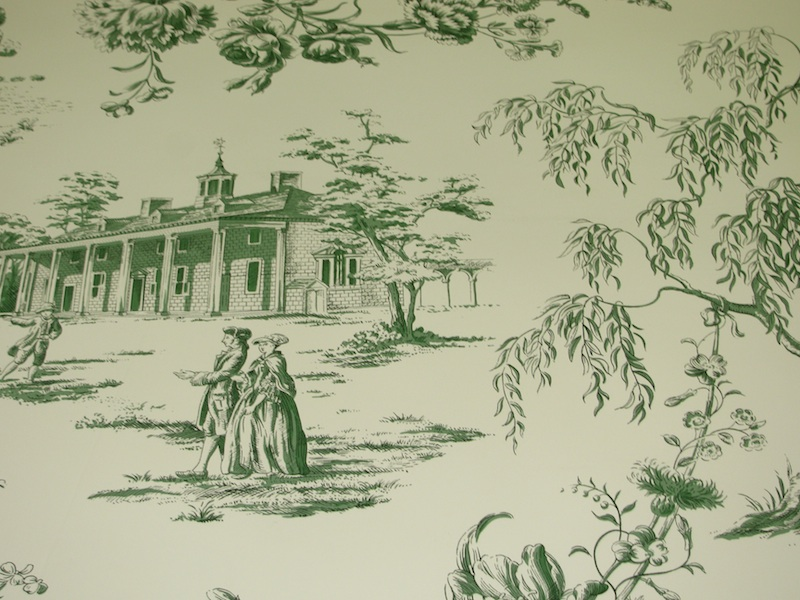 HINSON AND CO GREEN TOILE WALLPAPER   TRIPLE ROLLS [280808600783 800x600