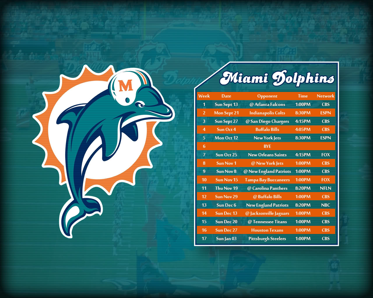picture regarding Miami Dolphins Printable Schedule identify No cost down load Miami Dolphins Printable Agenda Miami