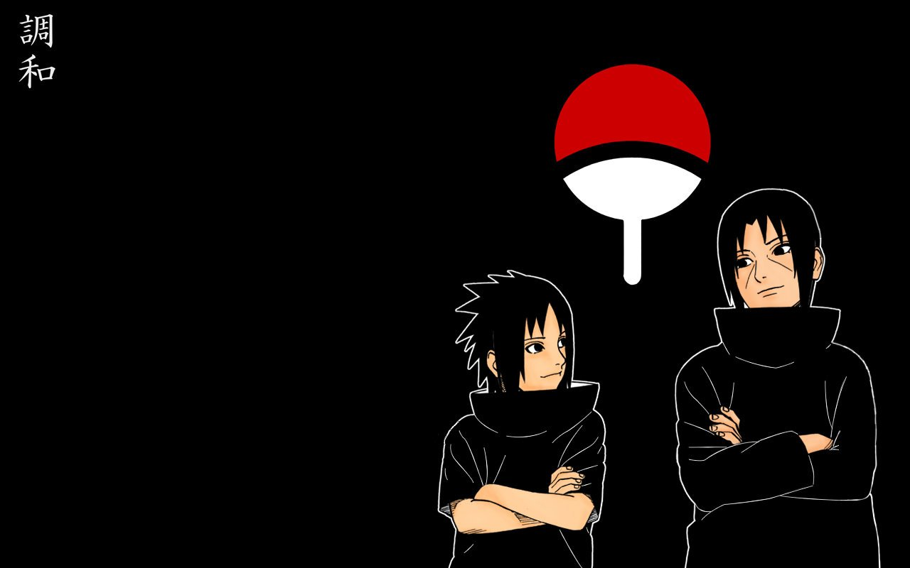 Uchiha Symbol Wallpaper 1280x800