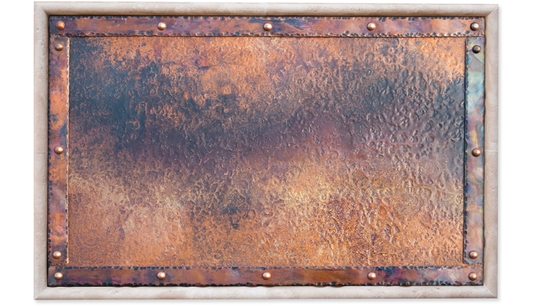 Hammered Copper Background 760x435
