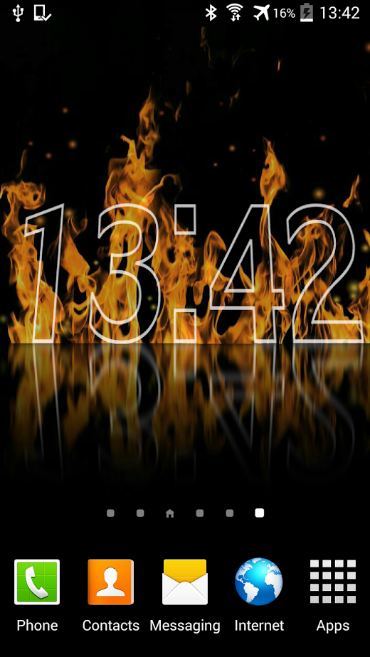 fire clock live wallpaper beautiful clock with realistic fire and 520x924