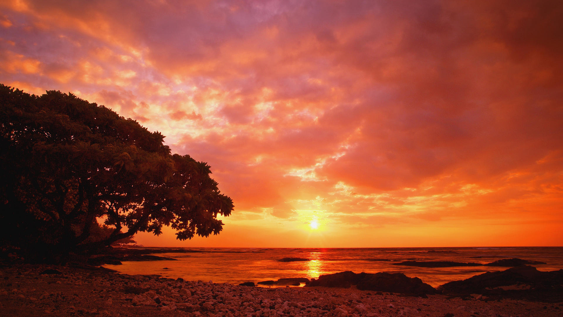 Ocean Sunset Backgrounds Hd wallpaper wallpaper hd background 1920x1080