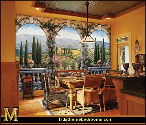 Italian cafe wallpaper wallpapersafari for Cafe mural wallpaper