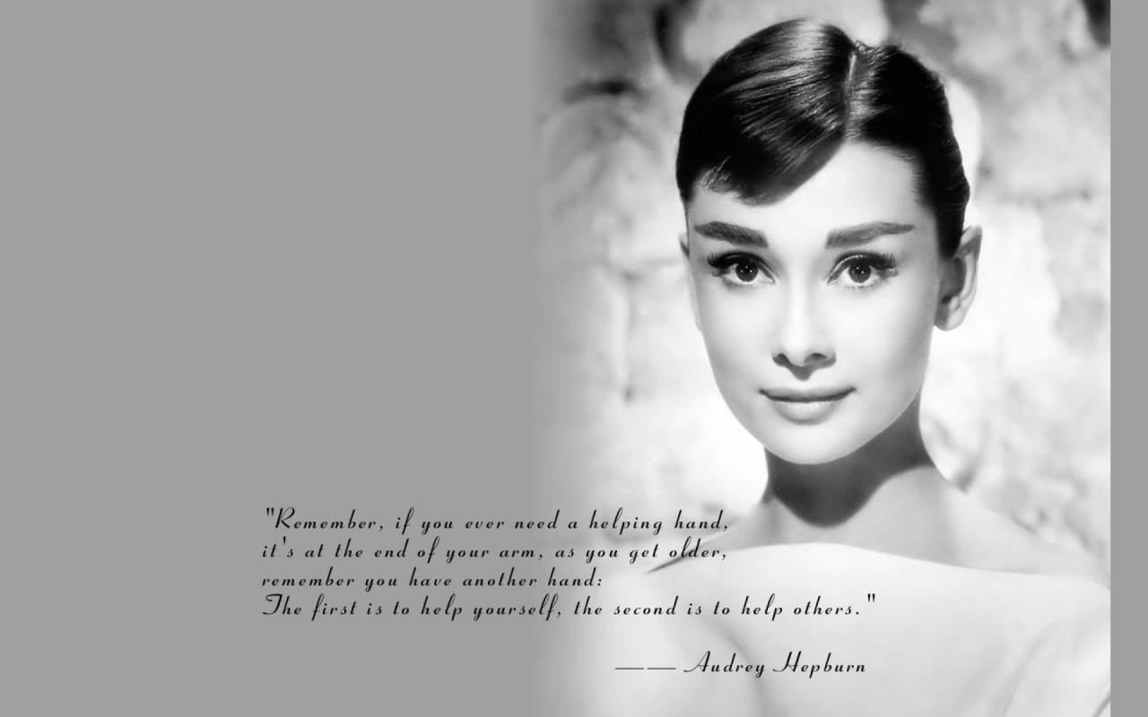 Audrey Hepburn Backgrounds 1280x800