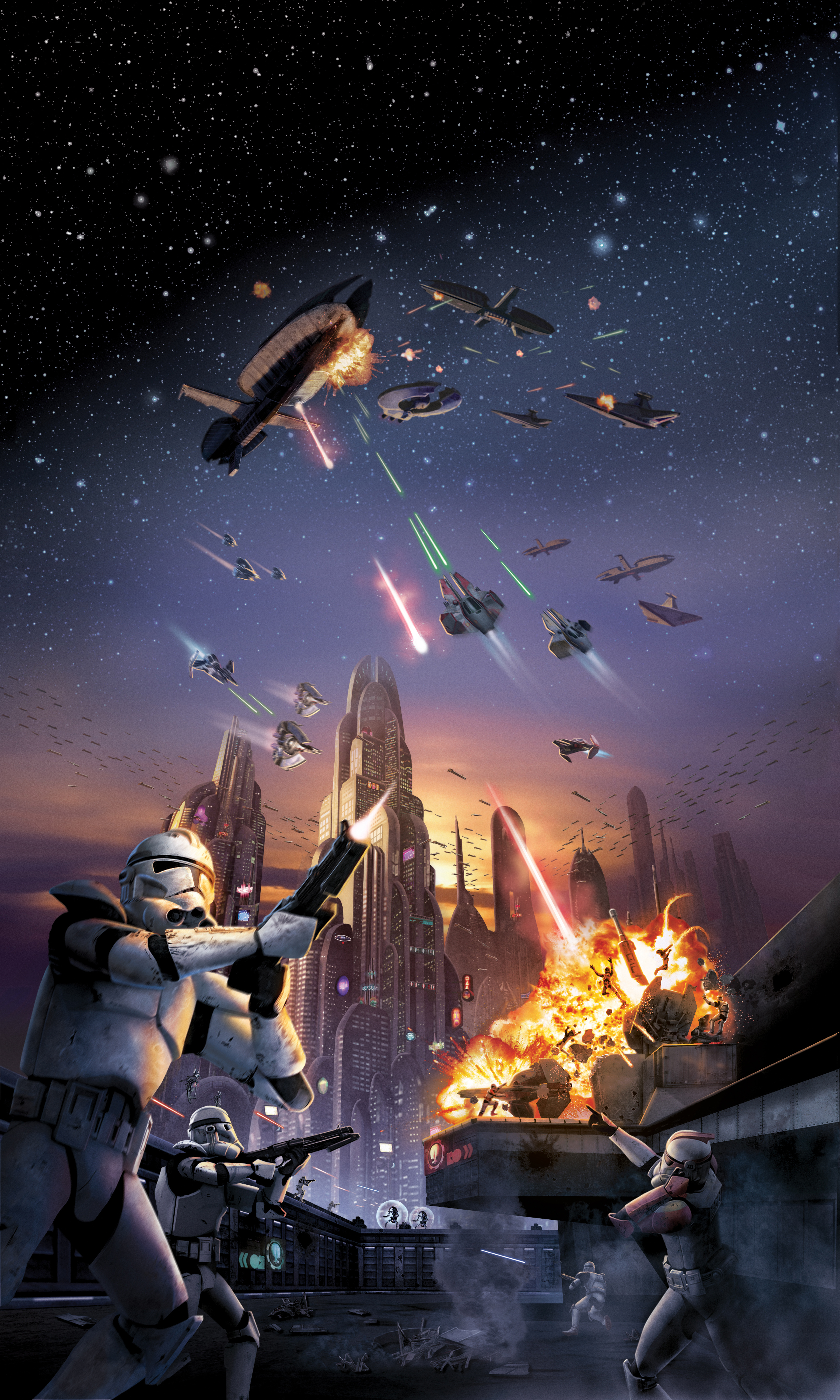 60 Star Wars Space Battle Background On Wallpapersafari