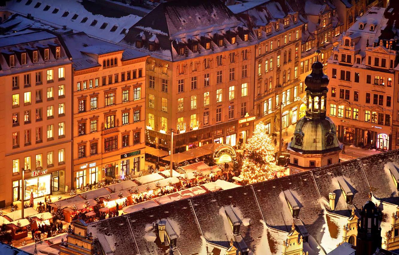 Wallpaper lights holiday Germany area Christmas Saxony fair 1332x850