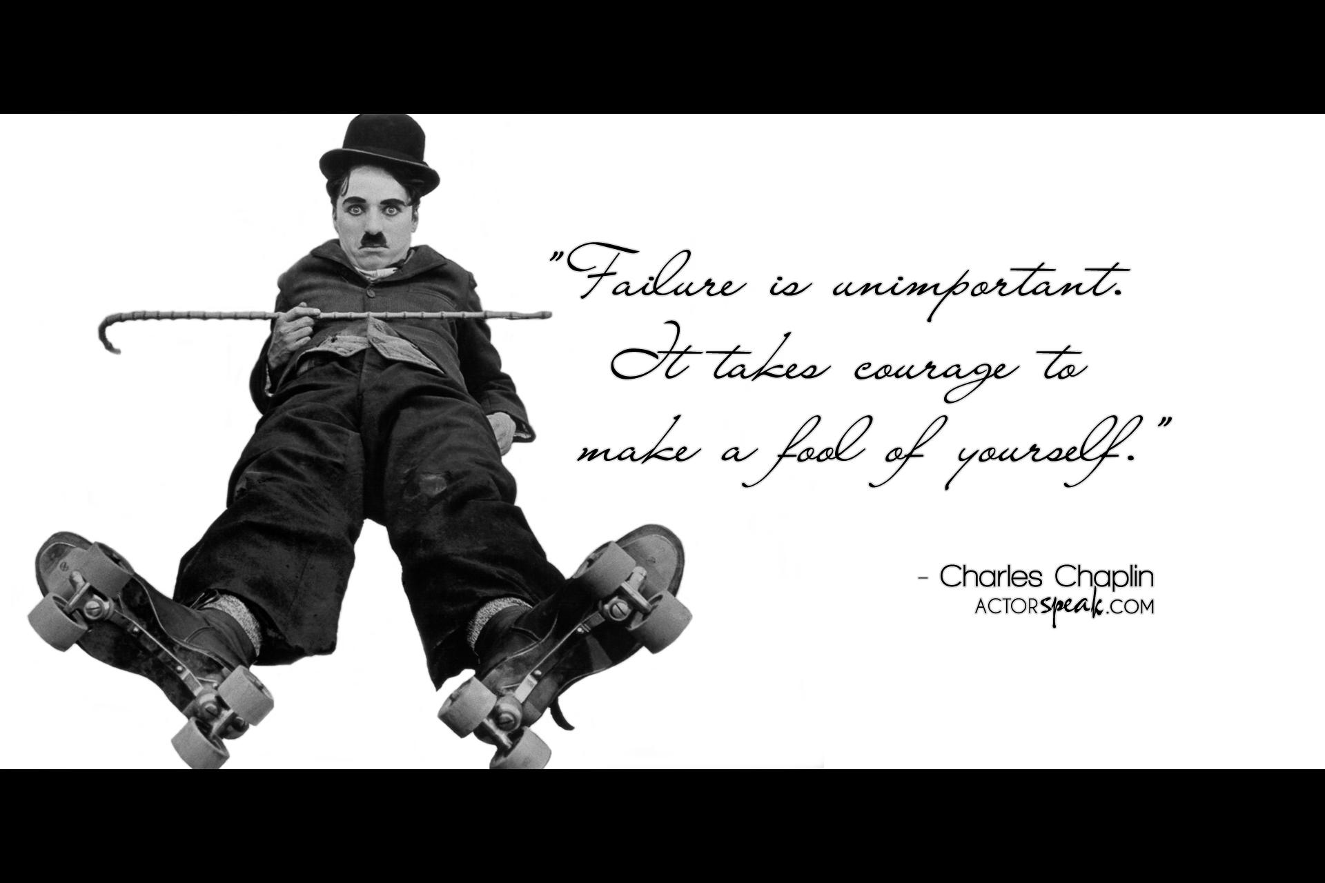 WALLPAPER Charlie Chaplin Quote On Acting With Photo ActorSpeakcom 1920x1280