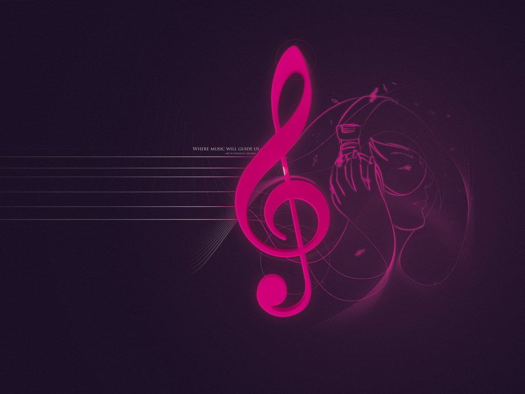 Pink Music Notes Wallpaper 10315 Hd Wallpapers in Music   Imagescicom 1024x768