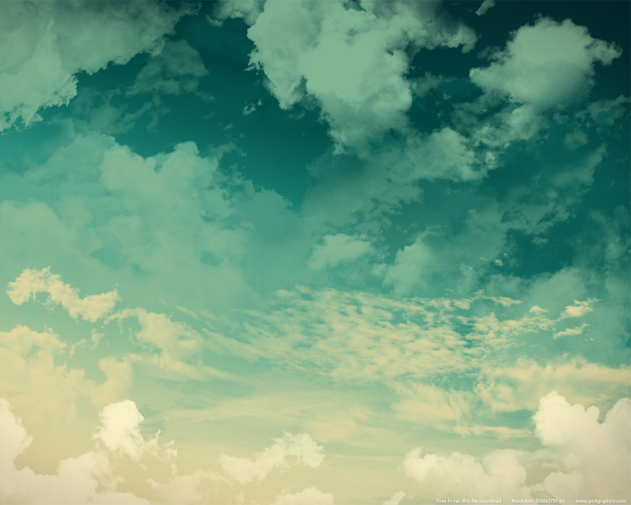 Grunge sky background green clouds PSDGraphics 1280x1024