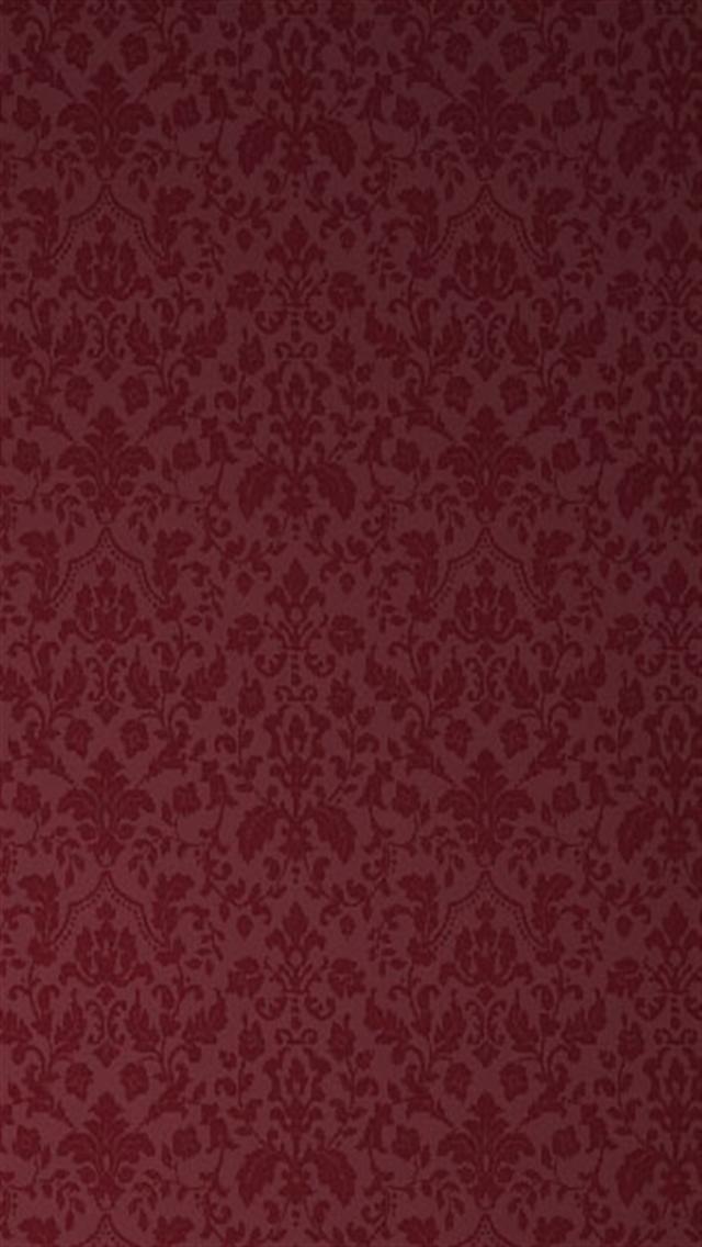 Victorian Wallpaper Pattern Red 640x1136