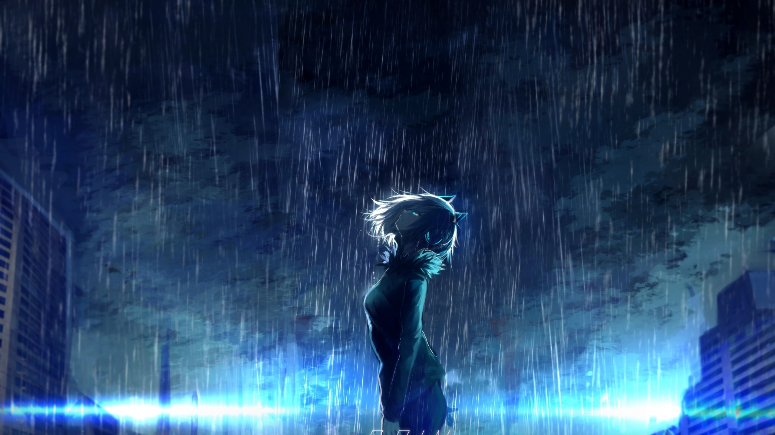 41 anime rain wallpapers on wallpapersafari - Anime rain wallpaper ...
