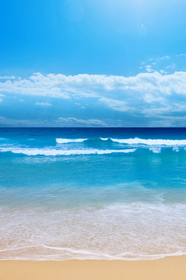 hd cool beach sea iphone 4s wallpapers backgrounds 640x960