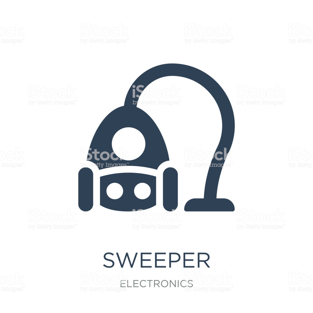 Sweeper Icon Vector On White Background Sweeper Trendy Filled I 1024x1024