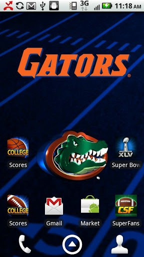 Florida Gators Live Wallpaper with animated 3D logo Background 288x512