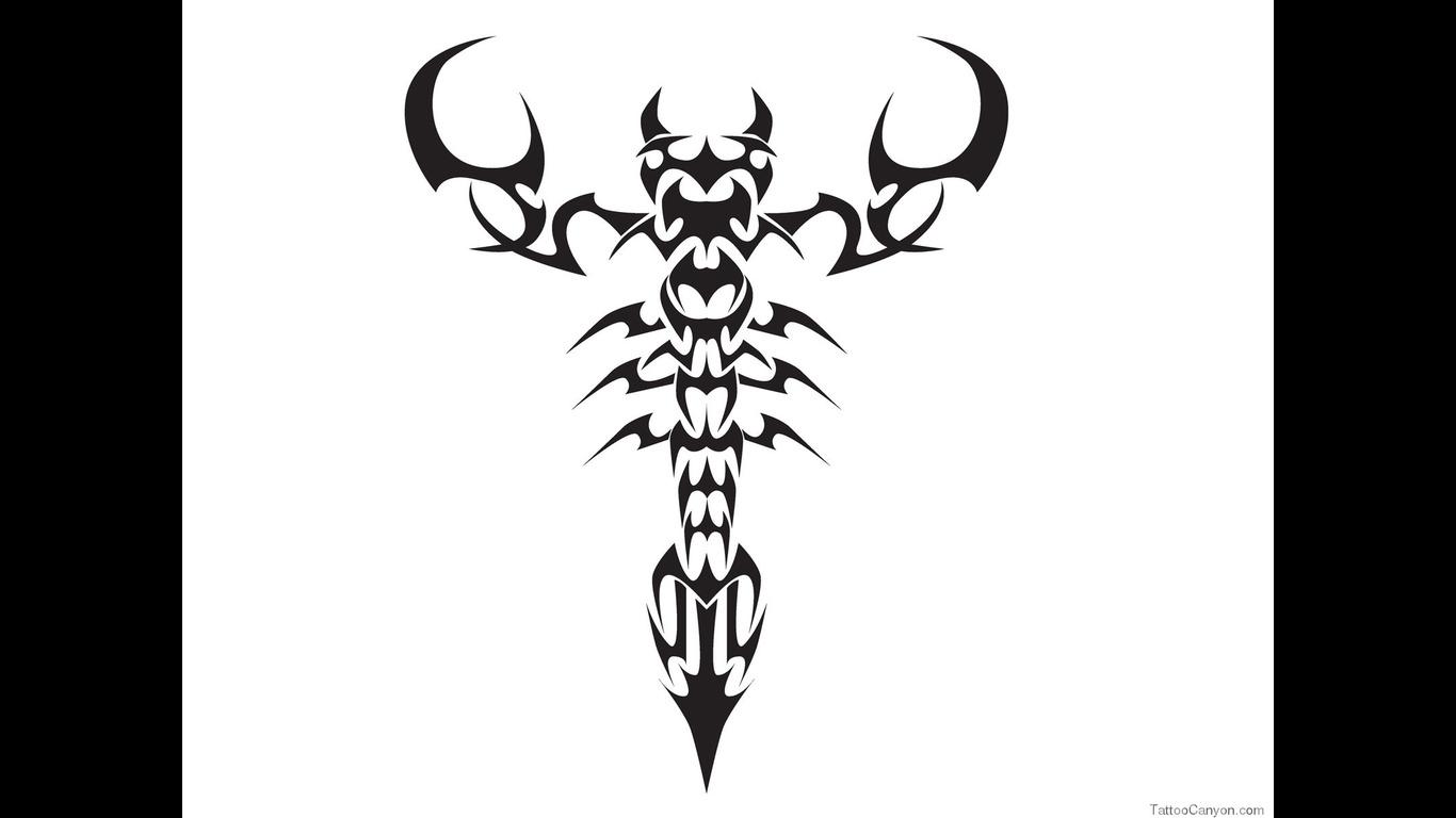Designs Tribal Scorpion Tattoo Wallpaper Picture 382 1366x768