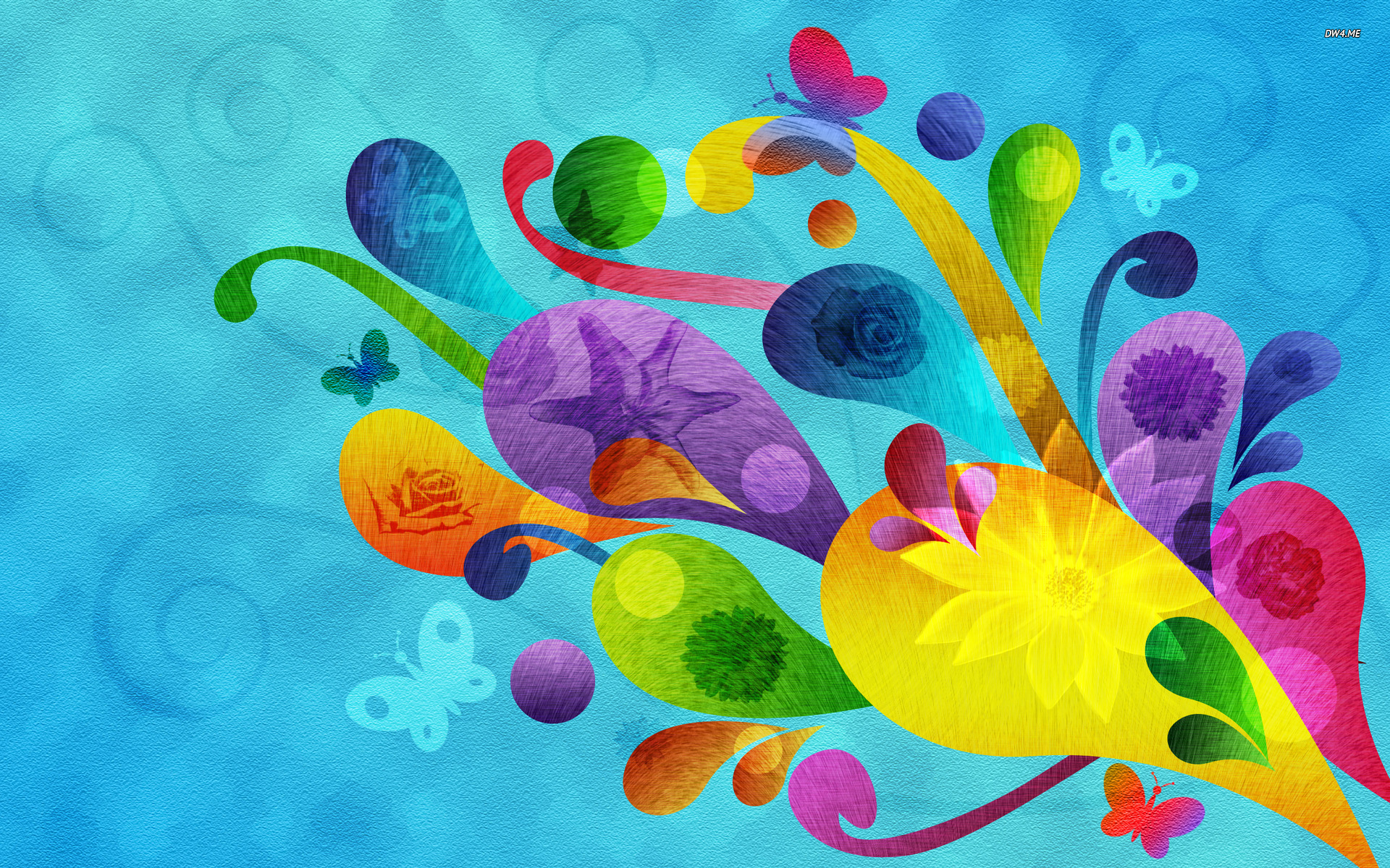 Colorful swirls wallpaper   Abstract wallpapers   691 1920x1200
