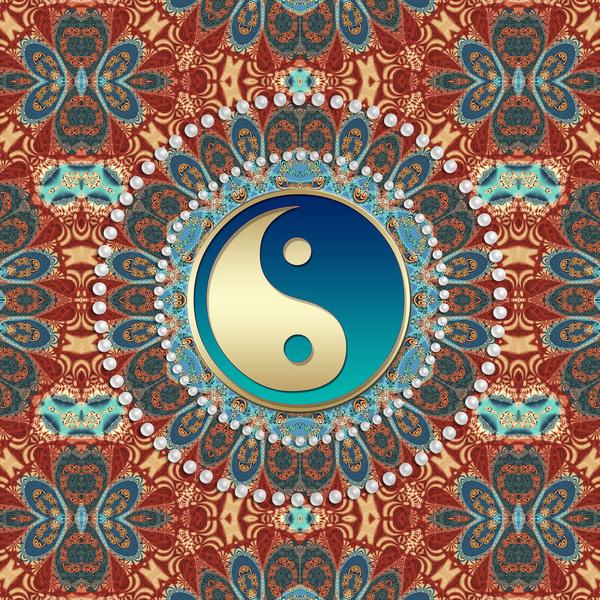 Bohemian Iphone Wallpaper Bohemian batik yin yang art 600x600