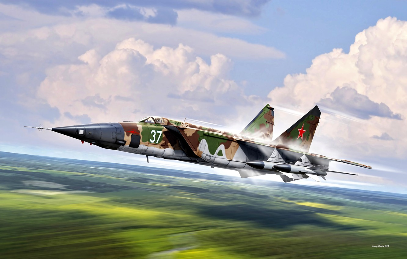 Wallpaper THE SOVIET AIR FORCE The MiG 25 The aircraft 1332x850