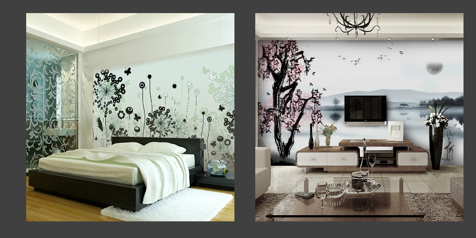 50 Home Decor Wallpaper Designs On