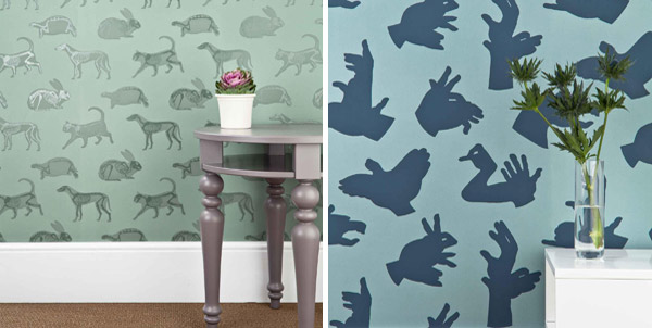 wallpaper is so stylish I would be happy to have this in any room 600x302