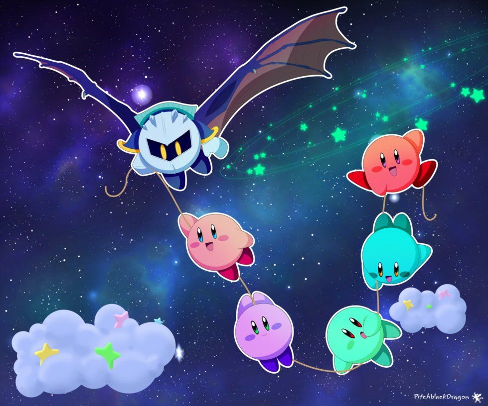 I drew a space background the way it looks in the credits of Kirby 979x816