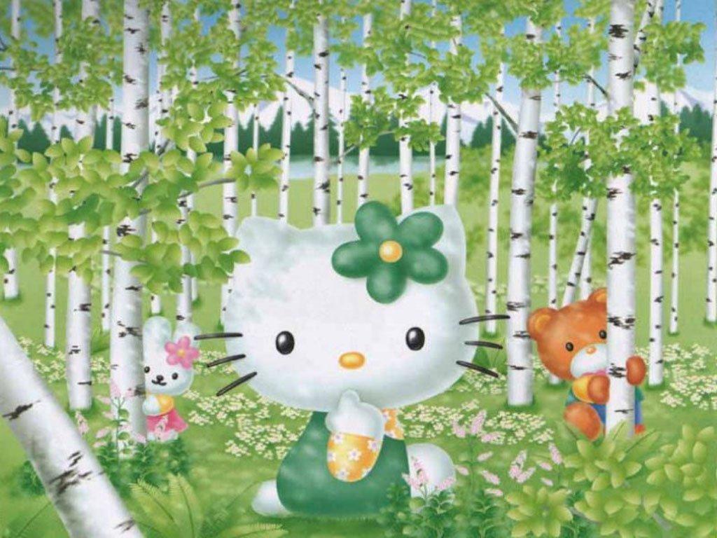 1024x768px Hello Kitty Spring Wallpaper Wallpapersafari