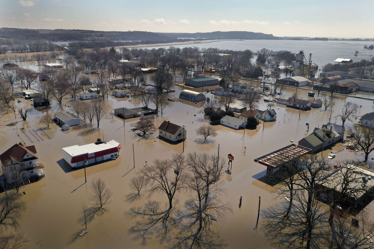 Nebraska flood 2019 Potentially unprecedented flood season 1200x800