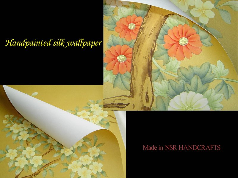 silk wallpaper hand painted wallpaper chinoiserie wallpaper chinese 800x600