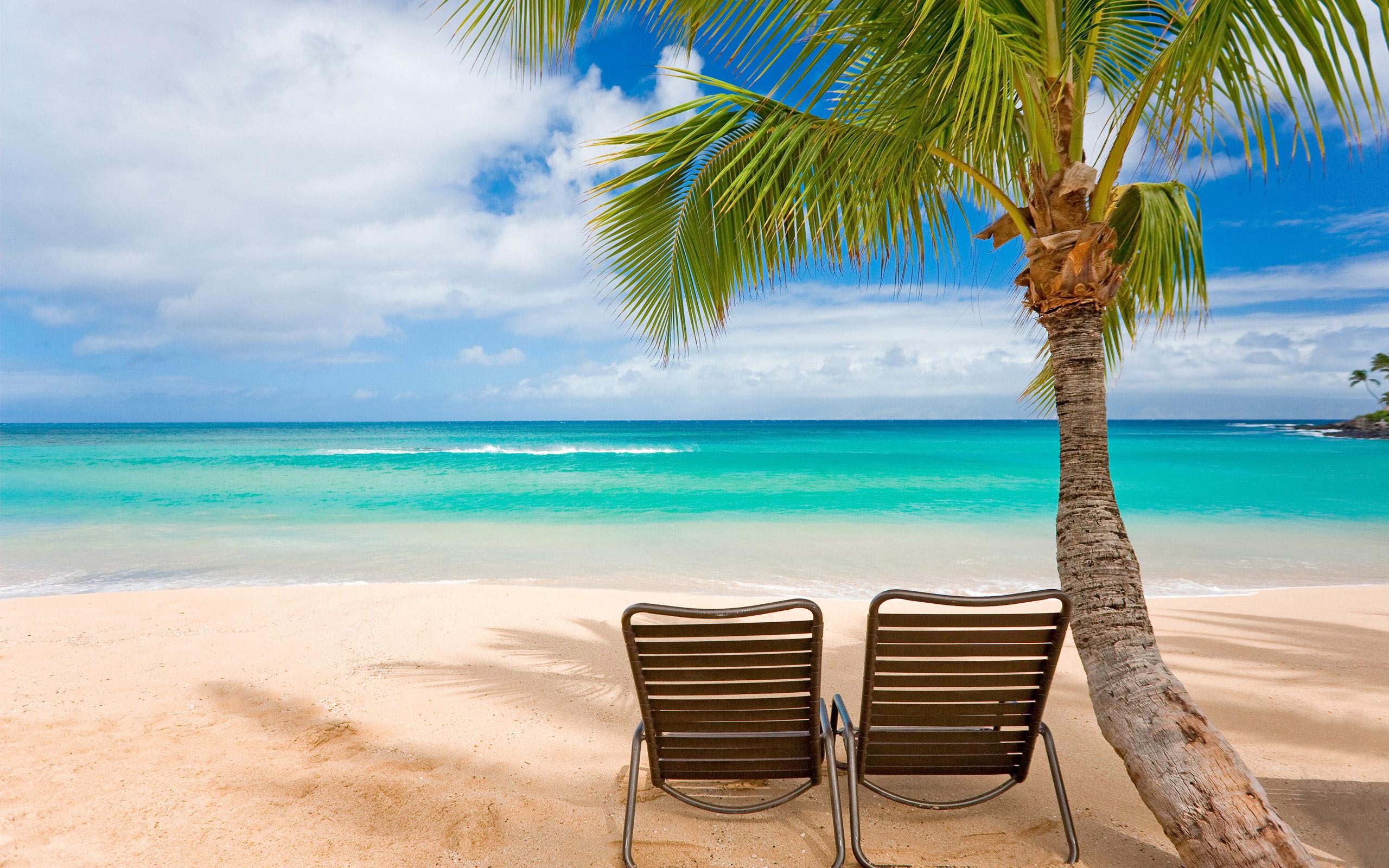 Beach Scene Wallpaper Full Desktop Backgrounds 2560x1600