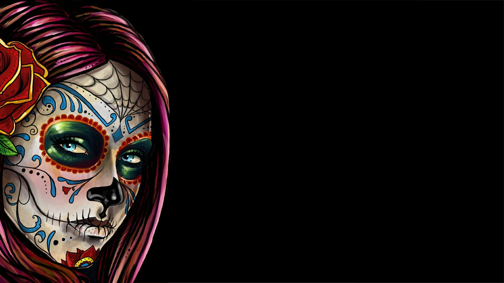 girly sugar skull wallpaper