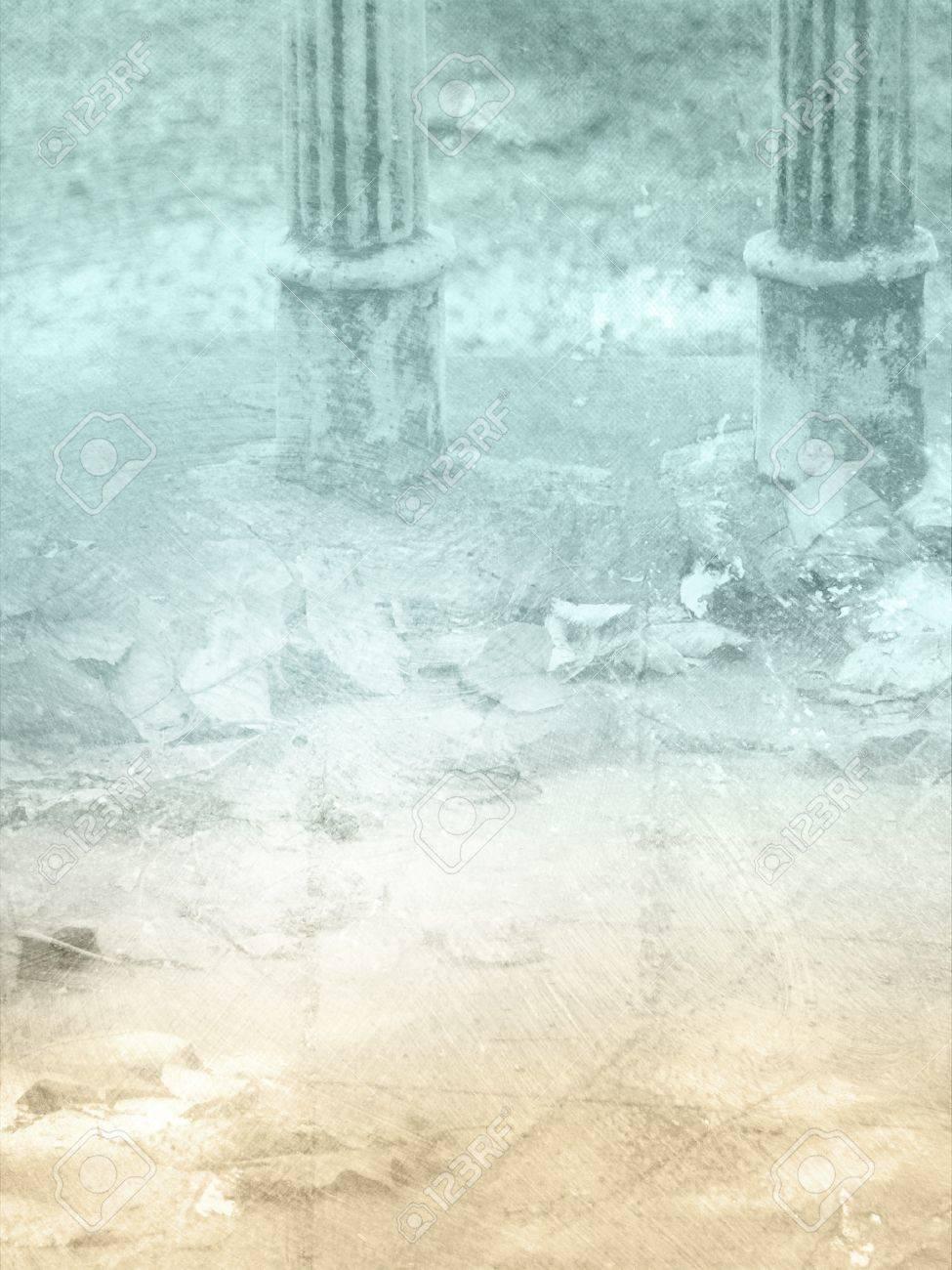 Vintage Background With Columns   Grunge Abstract Pillar Design 975x1300