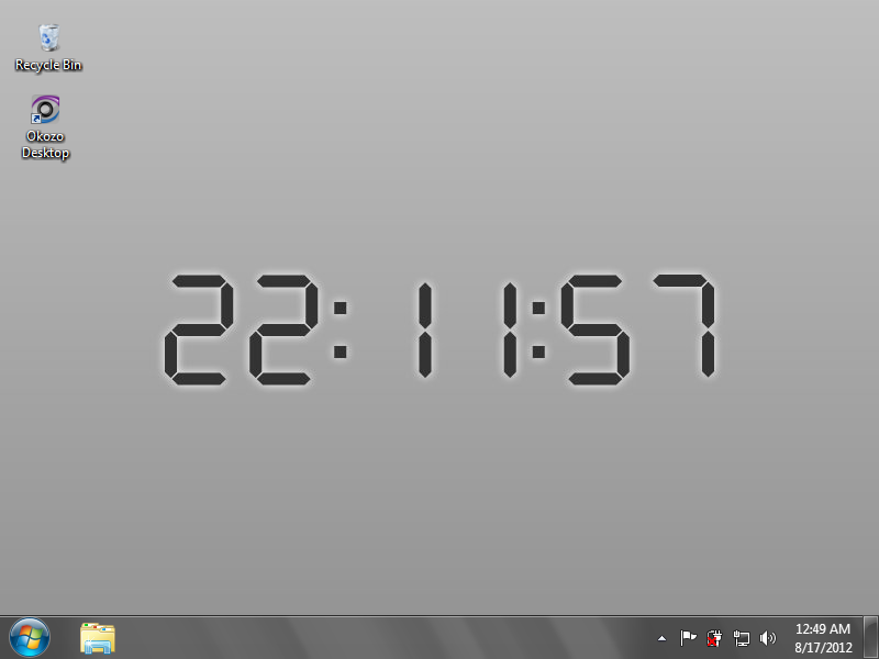 CSI Digital Desktop Clock Wallpaper Download and Review 800x600