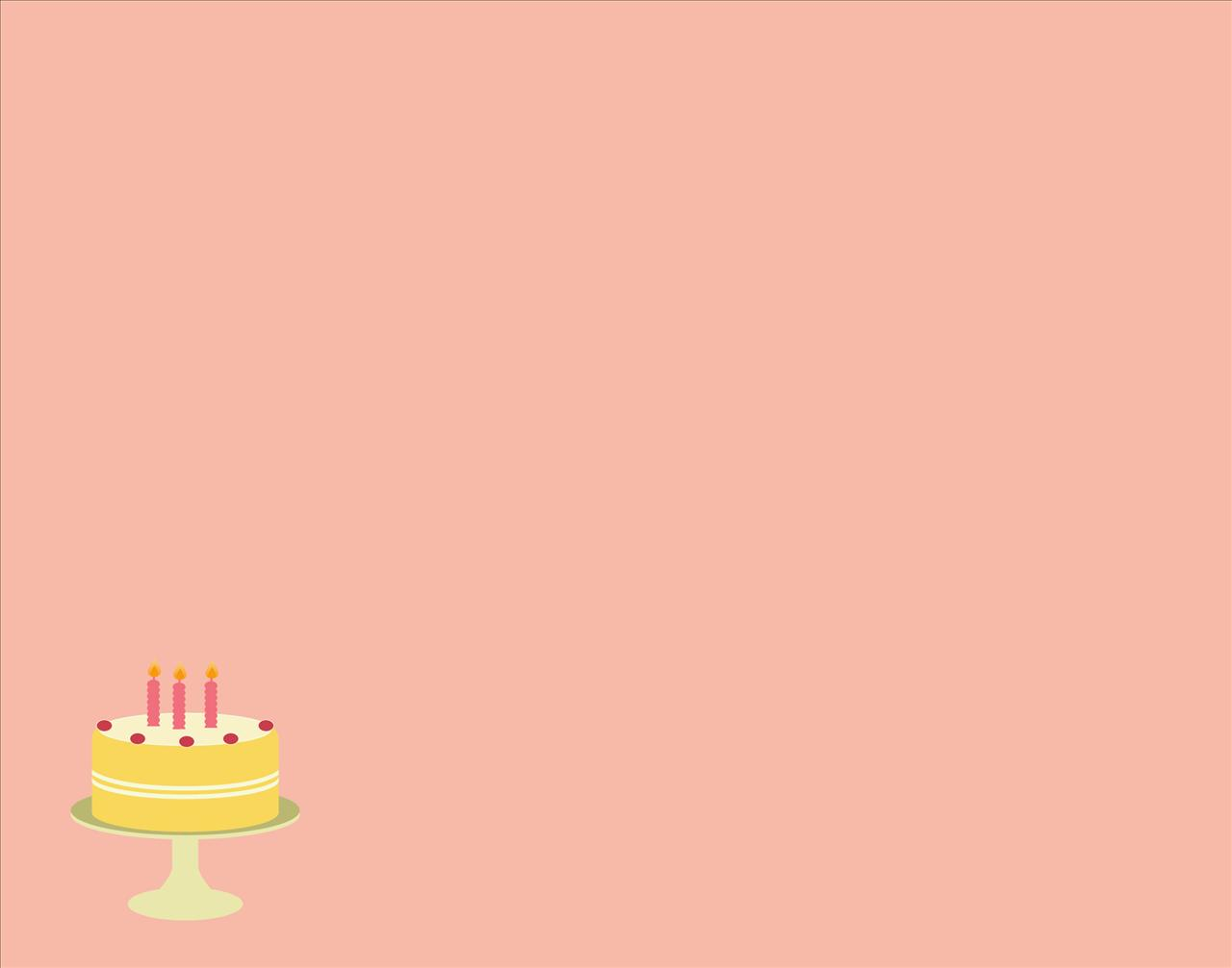 Light Pink Cake With Three Candles Birthday Party Celebration 1280x1007