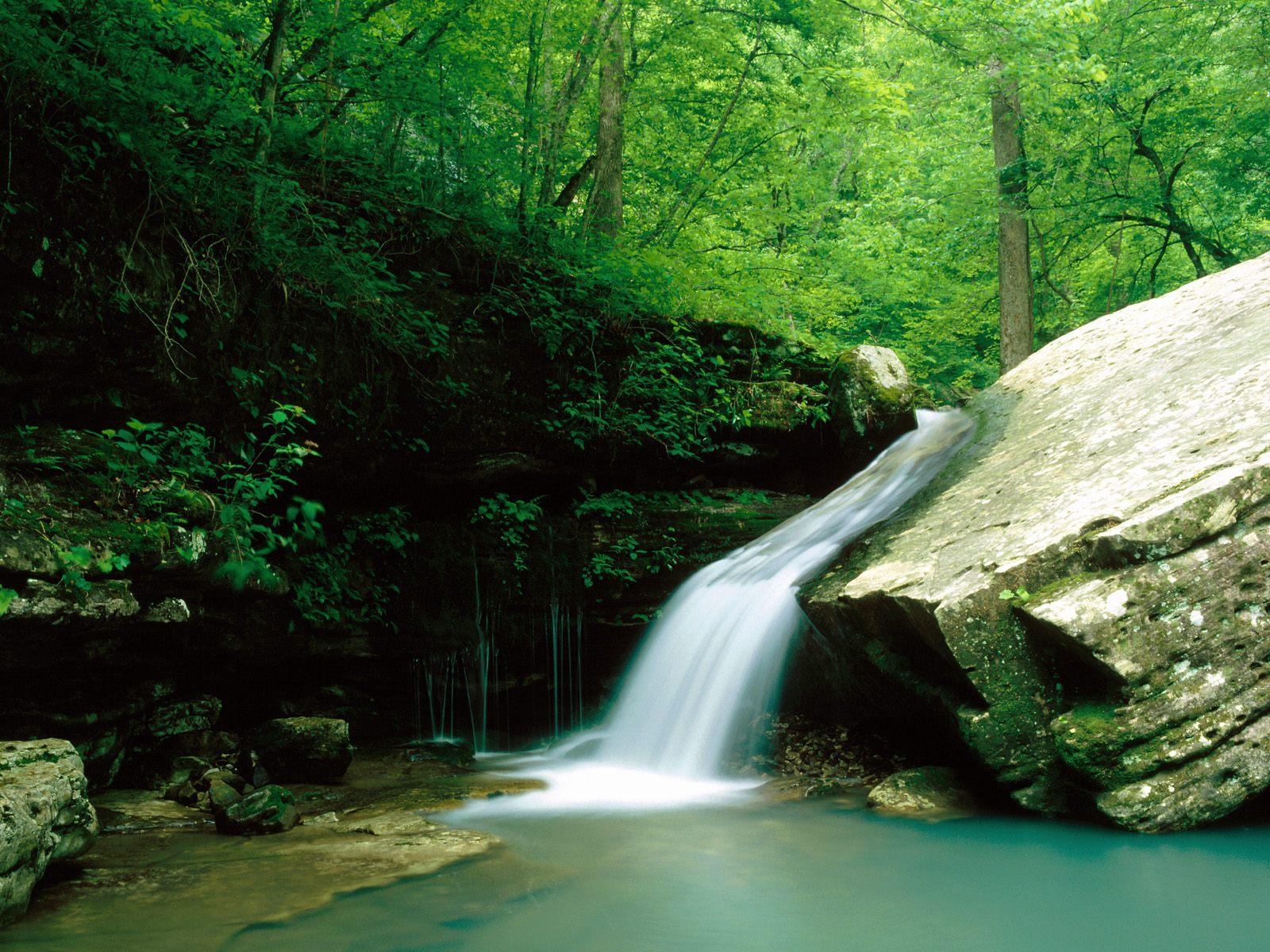 River Indian Creek Buffalo National River Arkansas   Nature Wallpaper 1600x1200