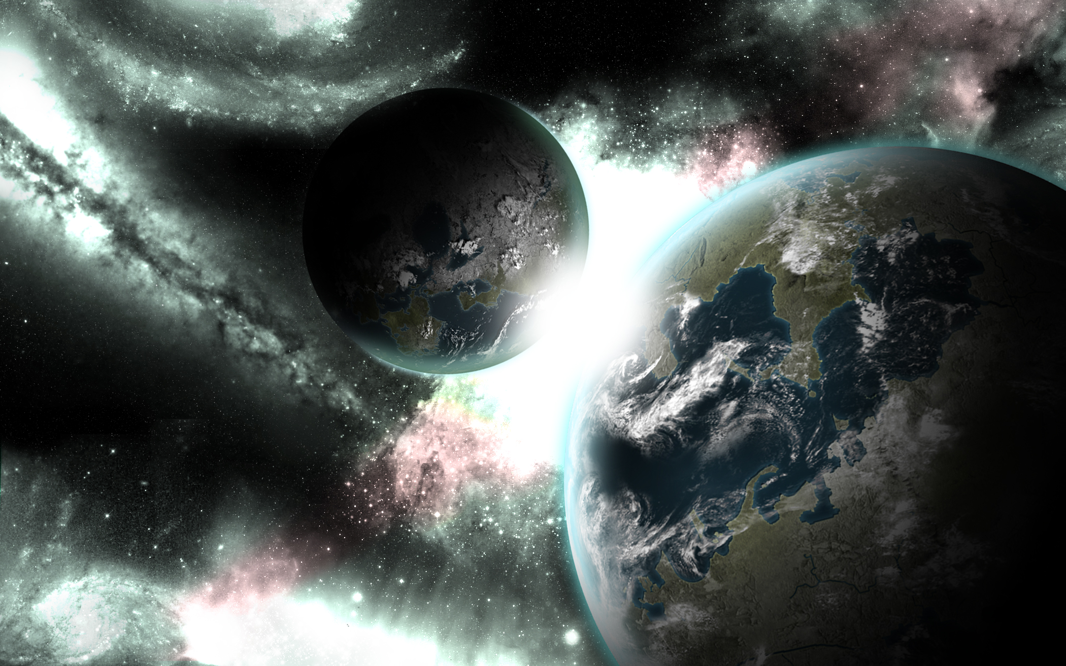 Planets abstract Wallpapers HD Wallpapers 2100x1313