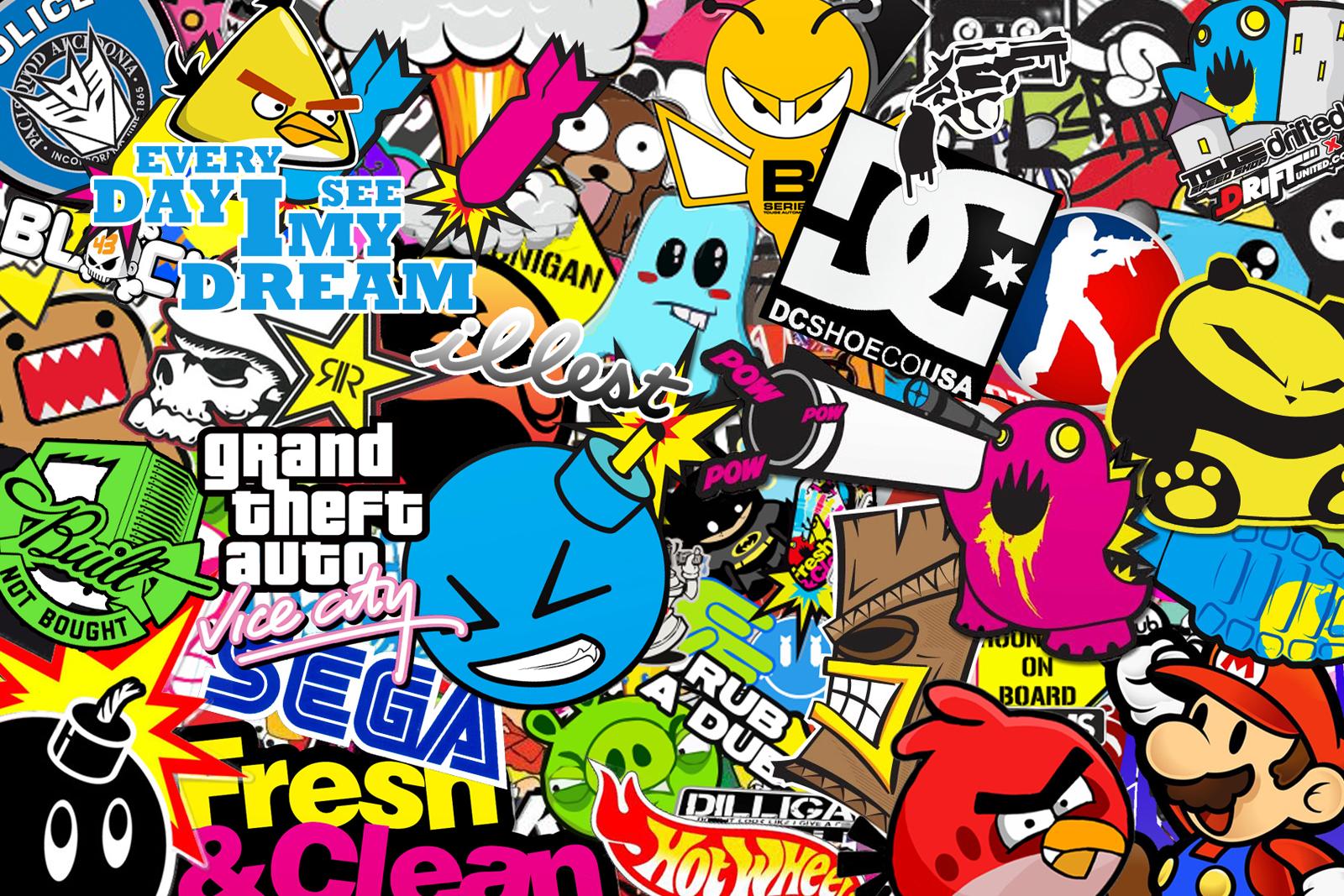 Superb Jdm Sticker Bomb Hd Jdm Stickers Wallpaper Hd