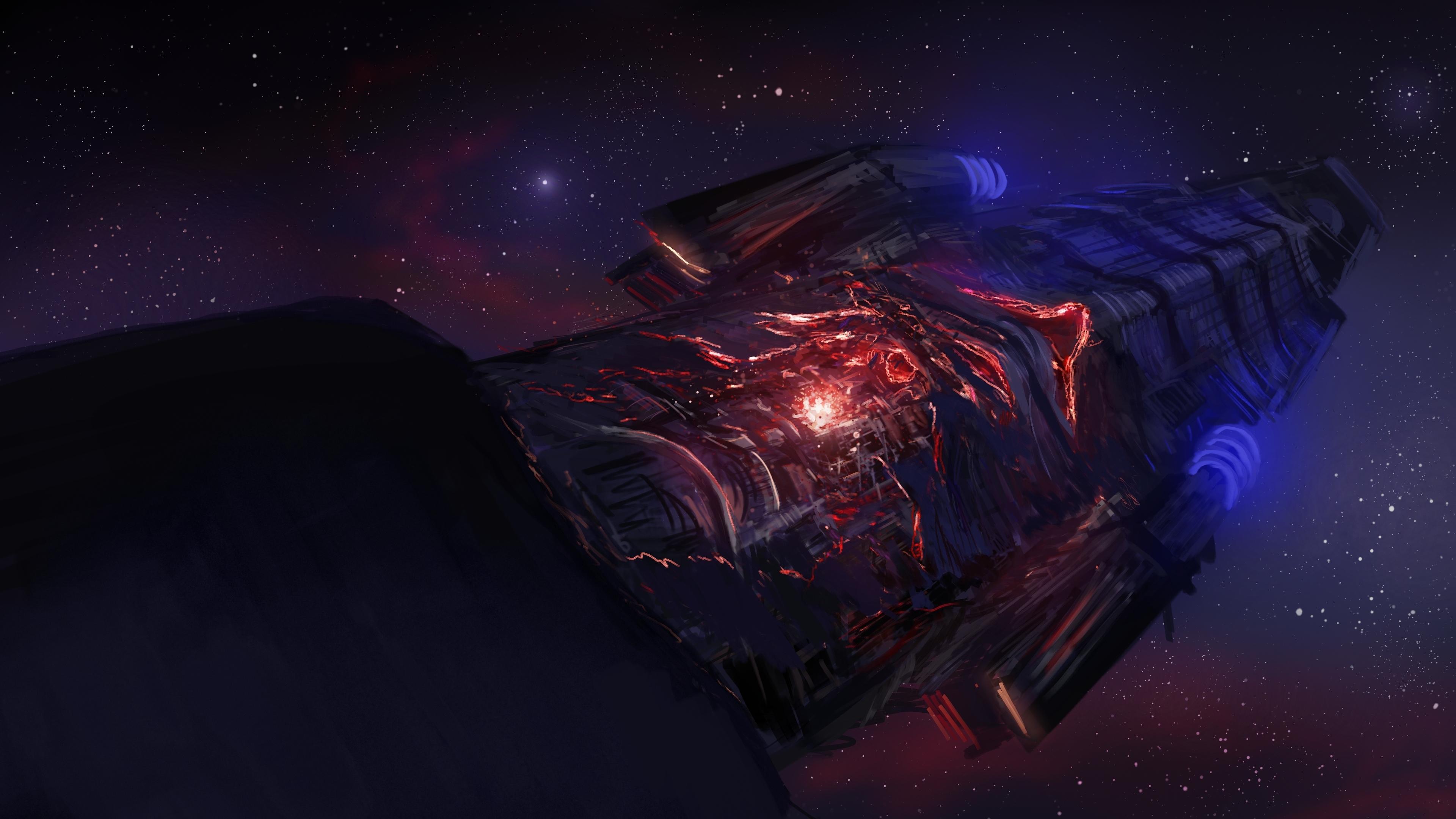 4k sci fi wallpaper wallpapersafari - Spaceship wallpaper 4k ...