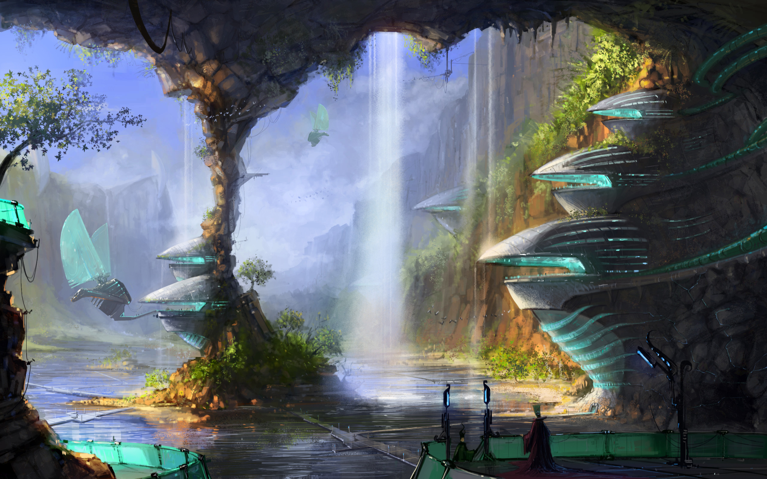 sci fi science fiction fantasy surreal art artistic paintings cg 2560x1600